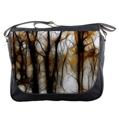 Fall Forest Artistic Background Messenger Bags by Nexatart