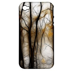 Fall Forest Artistic Background Apple Iphone 4/4s Hardshell Case (pc+silicone)