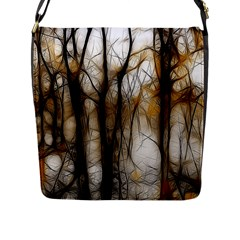 Fall Forest Artistic Background Flap Messenger Bag (l)  by Nexatart