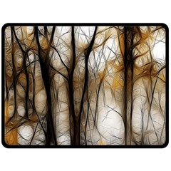 Fall Forest Artistic Background Double Sided Fleece Blanket (large)  by Nexatart