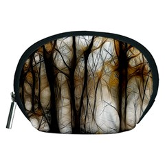 Fall Forest Artistic Background Accessory Pouches (medium)