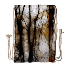 Fall Forest Artistic Background Drawstring Bag (large) by Nexatart