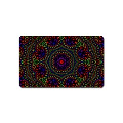 Rainbow Kaleidoscope Magnet (name Card)