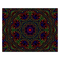 Rainbow Kaleidoscope Rectangular Jigsaw Puzzl by Nexatart