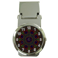Rainbow Kaleidoscope Money Clip Watches by Nexatart