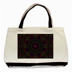 Rainbow Kaleidoscope Basic Tote Bag by Nexatart