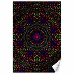 Rainbow Kaleidoscope Canvas 24  X 36  by Nexatart