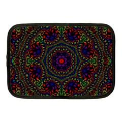 Rainbow Kaleidoscope Netbook Case (medium)  by Nexatart