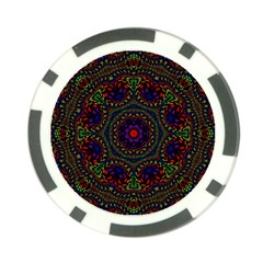 Rainbow Kaleidoscope Poker Chip Card Guard (10 Pack)