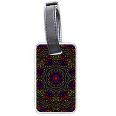 Rainbow Kaleidoscope Luggage Tags (one Side)  by Nexatart