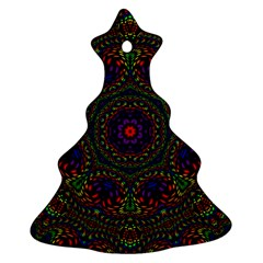 Rainbow Kaleidoscope Christmas Tree Ornament (two Sides) by Nexatart