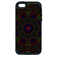 Rainbow Kaleidoscope Apple Iphone 5 Hardshell Case (pc+silicone) by Nexatart