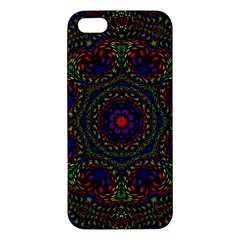 Rainbow Kaleidoscope Apple Iphone 5 Premium Hardshell Case by Nexatart