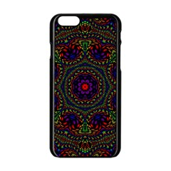 Rainbow Kaleidoscope Apple Iphone 6/6s Black Enamel Case