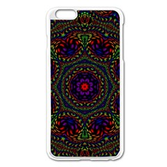Rainbow Kaleidoscope Apple Iphone 6 Plus/6s Plus Enamel White Case by Nexatart