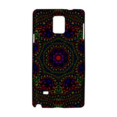 Rainbow Kaleidoscope Samsung Galaxy Note 4 Hardshell Case by Nexatart