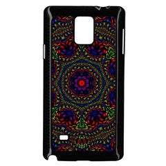 Rainbow Kaleidoscope Samsung Galaxy Note 4 Case (black) by Nexatart