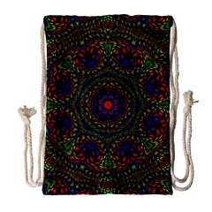 Rainbow Kaleidoscope Drawstring Bag (large)
