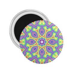 Rainbow Kaleidoscope 2 25  Magnets by Nexatart