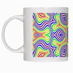 Rainbow Kaleidoscope White Mugs by Nexatart