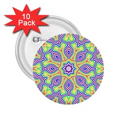 Rainbow Kaleidoscope 2 25  Buttons (10 Pack)  by Nexatart