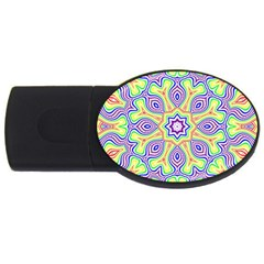 Rainbow Kaleidoscope Usb Flash Drive Oval (4 Gb) by Nexatart