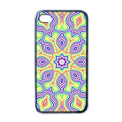 Rainbow Kaleidoscope Apple Iphone 4 Case (black) by Nexatart