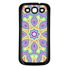 Rainbow Kaleidoscope Samsung Galaxy S3 Back Case (black)