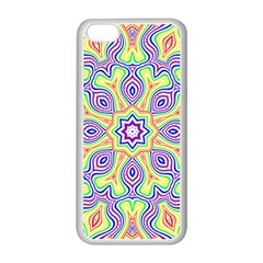 Rainbow Kaleidoscope Apple Iphone 5c Seamless Case (white)