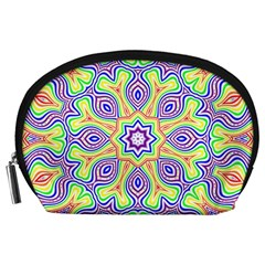 Rainbow Kaleidoscope Accessory Pouches (large)