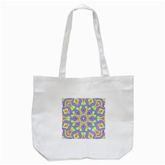 Rainbow Kaleidoscope Tote Bag (white)