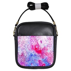 Glitter Pattern Background Girls Sling Bags by Nexatart