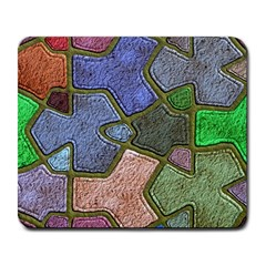 Background With Color Kindergarten Tiles Large Mousepads by Nexatart