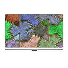 Background With Color Kindergarten Tiles Business Card Holders by Nexatart