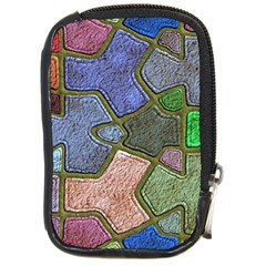 Background With Color Kindergarten Tiles Compact Camera Cases by Nexatart
