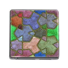 Background With Color Kindergarten Tiles Memory Card Reader (square) by Nexatart