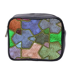 Background With Color Kindergarten Tiles Mini Toiletries Bag 2 Side by Nexatart