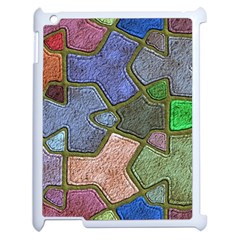 Background With Color Kindergarten Tiles Apple Ipad 2 Case (white) by Nexatart