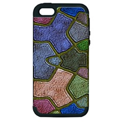 Background With Color Kindergarten Tiles Apple Iphone 5 Hardshell Case (pc+silicone)