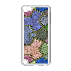 Background With Color Kindergarten Tiles Apple Ipod Touch 5 Case (white) by Nexatart