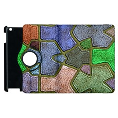 Background With Color Kindergarten Tiles Apple Ipad 2 Flip 360 Case by Nexatart