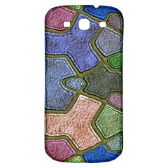 Background With Color Kindergarten Tiles Samsung Galaxy S3 S Iii Classic Hardshell Back Case by Nexatart