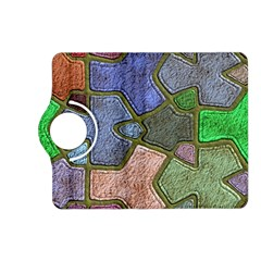 Background With Color Kindergarten Tiles Kindle Fire Hd (2013) Flip 360 Case by Nexatart