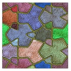 Background With Color Kindergarten Tiles Large Satin Scarf (square)