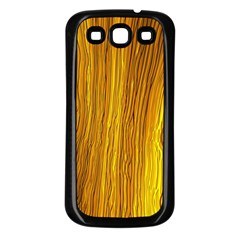Light Doodle Pattern Background Wallpaper Samsung Galaxy S3 Back Case (black)