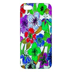 Background Of Hand Drawn Flowers With Green Hues Iphone 5s/ Se Premium Hardshell Case