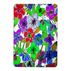 Background Of Hand Drawn Flowers With Green Hues Kindle Fire Hdx 8 9  Hardshell Case by Nexatart