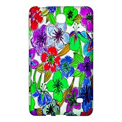 Background Of Hand Drawn Flowers With Green Hues Samsung Galaxy Tab 4 (8 ) Hardshell Case