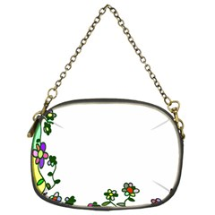 Floral Border Cartoon Flower Doodle Chain Purses (one Side)  by Nexatart