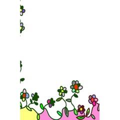Floral Border Cartoon Flower Doodle 5 5  X 8 5  Notebooks by Nexatart